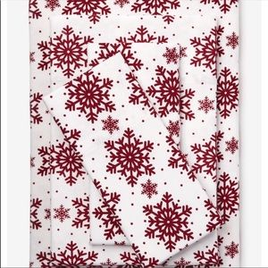 Christmas Snowflake Cotton Print Sheet Set